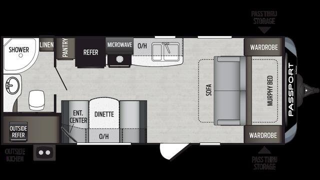2020 Passport SL Series 197RB Floor Plan