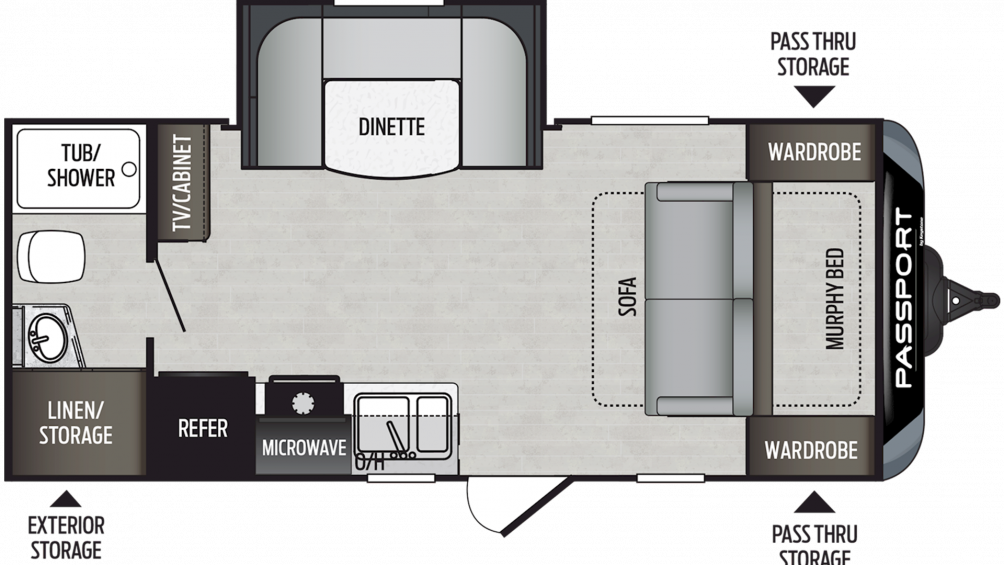 2020 Passport SL Series 199ML Floor Plan Img