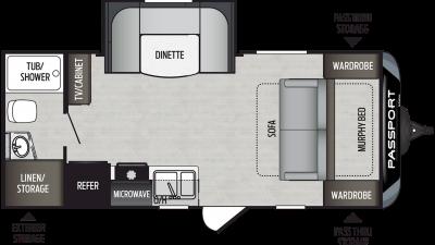 2020 Passport SL Series 199ML Floor Plan Img