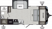 2020 Passport SL Series 199ML Floor Plan