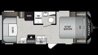 2020 Passport SL Series 216RD Floor Plan