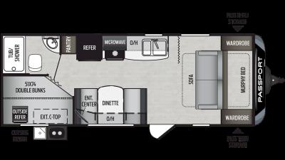 2020 Passport SL Series 239ML Floor Plan Img