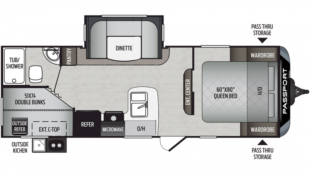 2020 Passport SL Series 240BH Floor Plan Img