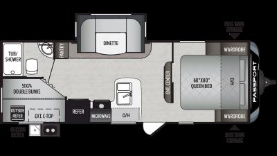 2020 Passport SL Series 240BH Floor Plan Img