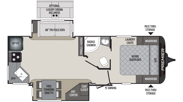 2020 Premier 24RKPR Floor Plan