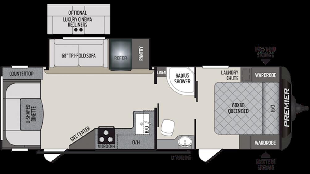 2020 Premier 26UDPR Floor Plan Img
