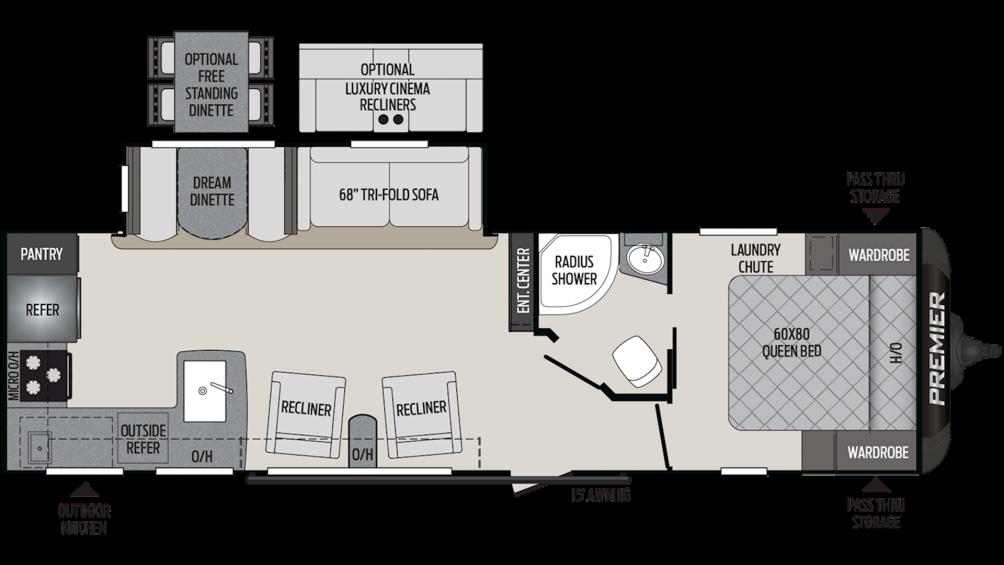 2020 Premier 29RKPR Floor Plan Img