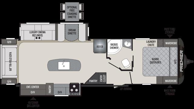 2020 Premier 30RIPR Floor Plan