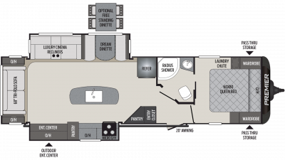 2020 Premier 30RIPR Floor Plan Img