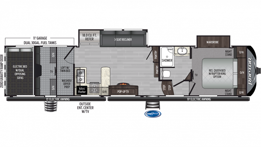 2020 Raptor 351 Floor Plan Img