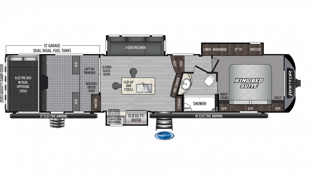 2020 Raptor 354 Floor Plan Img