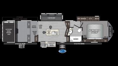 2020 Raptor 354 Floor Plan Img