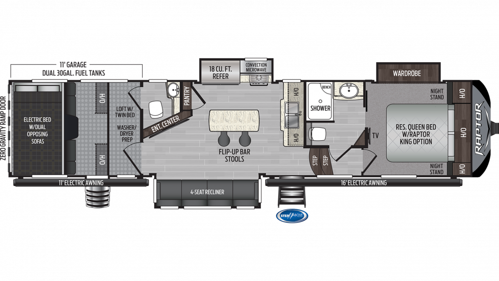 2020 Raptor 356 Floor Plan Img