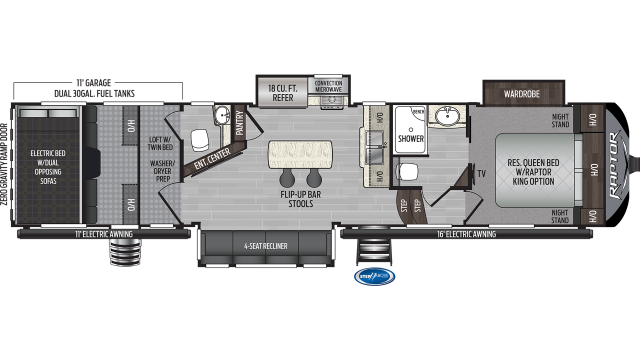 2020 Raptor 356 Floor Plan