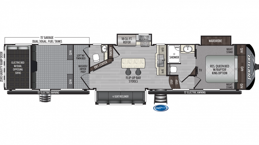 2020 Raptor 415 Floor Plan Img