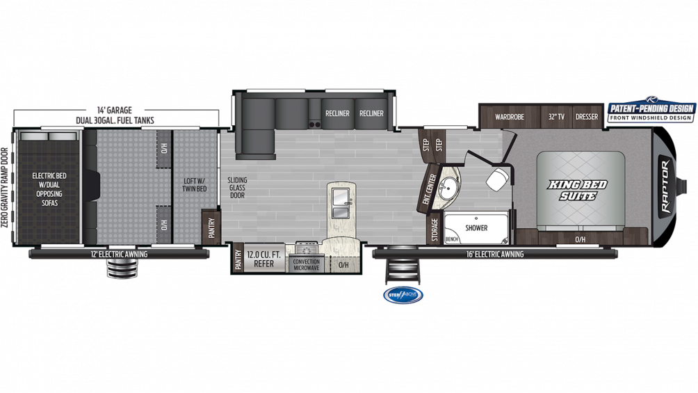 2020 Raptor 424TS Floor Plan Img