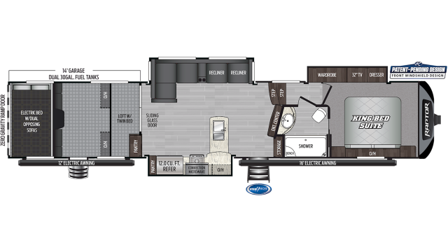 2020 Raptor 424TS Floor Plan