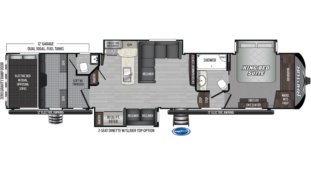 2020 Raptor 425TS Floor Plan