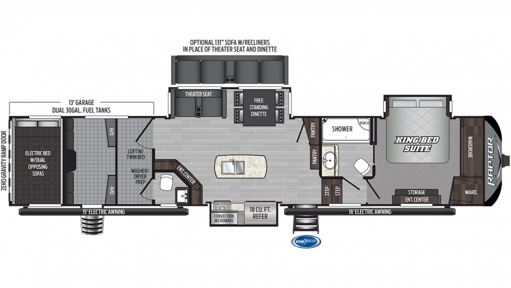 2020 Raptor 426TS Floor Plan Img