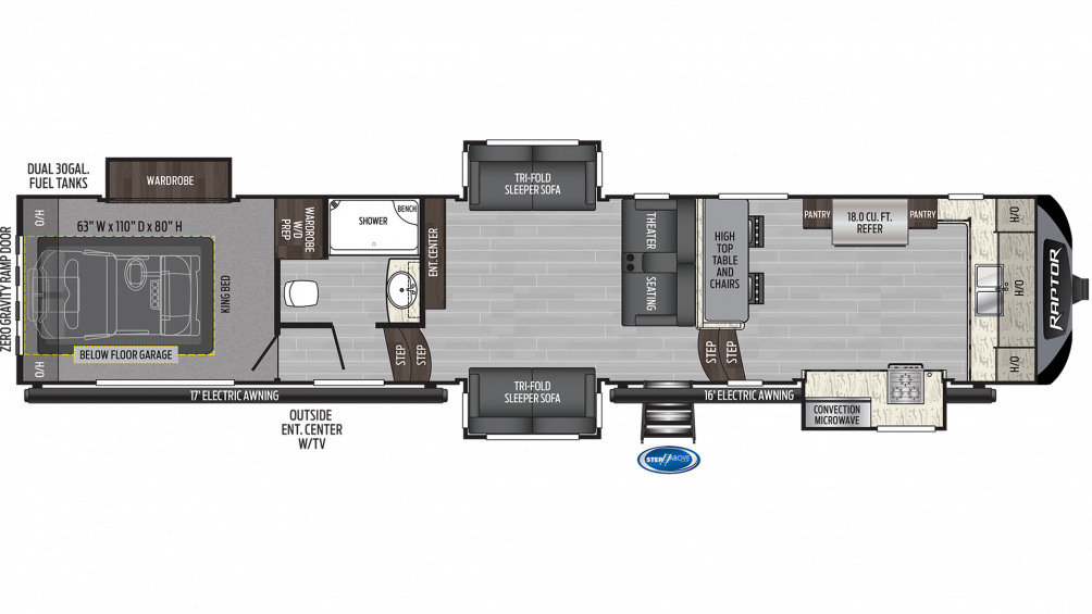 2020 Raptor 427 Floor Plan Img