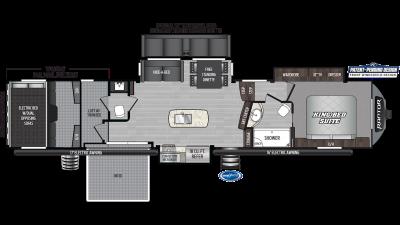 2020 Raptor 428SP Floor Plan Img