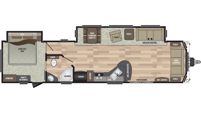 2020 Residence 401FDEN Floor Plan
