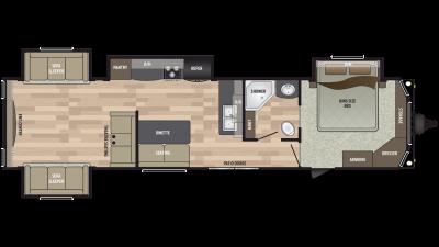 2020 Residence 401RDEN Floor Plan Img