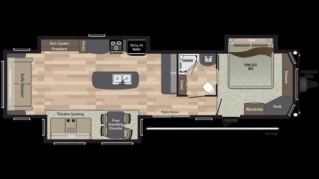2020 Residence 401RLTS Floor Plan