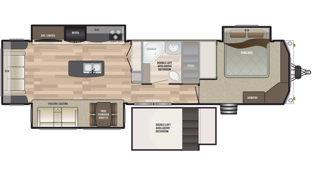 2020 Residence 40FLFT Floor Plan
