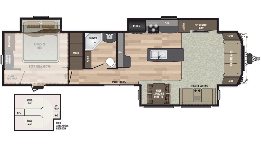 2020 Residence 40LOFT Floor Plan Img