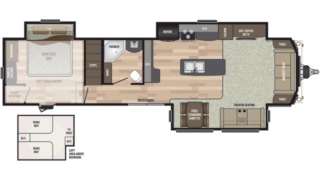 2020 Residence 40LOFT Floor Plan