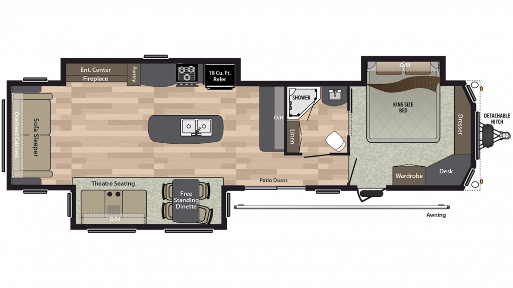 2020 Residence 40RLTS Floor Plan Img