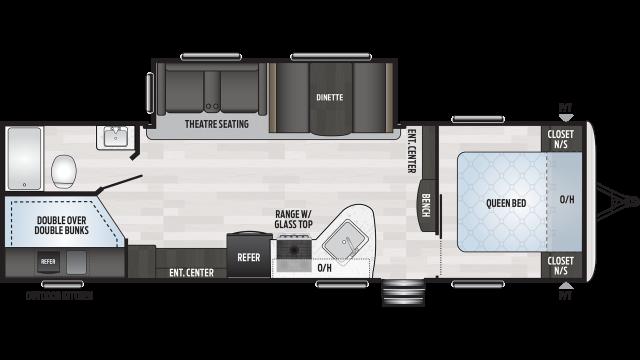 2020 Springdale 270BH Floor Plan