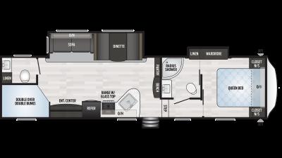 2020 Springdale 300BH Floor Plan Img