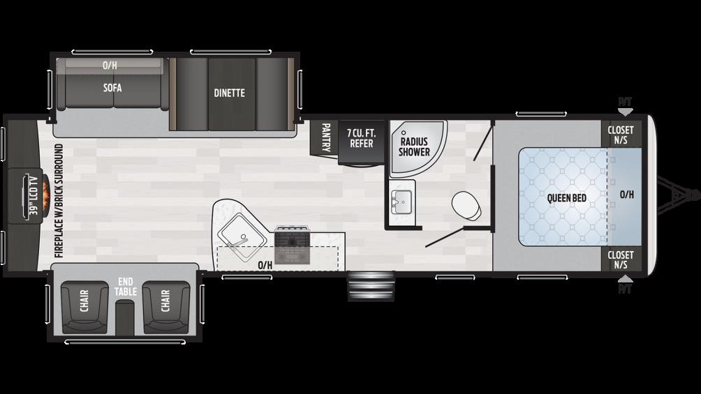 2020 Springdale 311RE Floor Plan Img