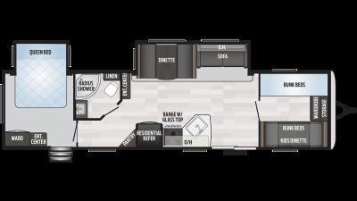 2020 Springdale 38BH Floor Plan Img