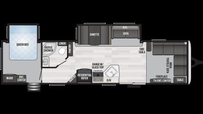 2020 Springdale 38FL Floor Plan Img