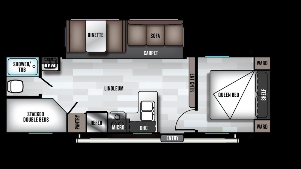 2020 Wildwood 26DBLE Floor Plan Img
