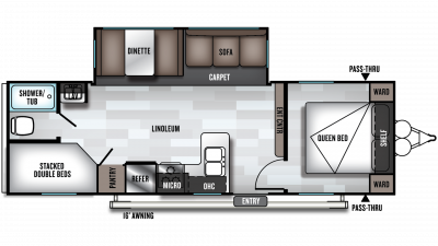2020 Wildwood 26DBLE Floor Plan Img