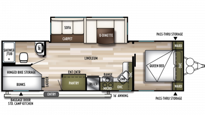 2020 Wildwood 27DBK Floor Plan Img