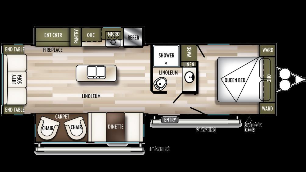 2020 Wildwood 27RE Floor Plan Img