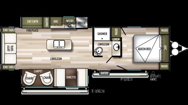 2020 Wildwood 27RE Floor Plan