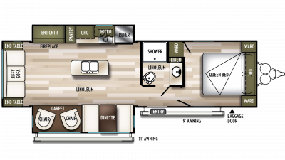 2020 Wildwood 27RE Floor Plan Img