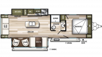 2020 Wildwood 27RE Floor Plan