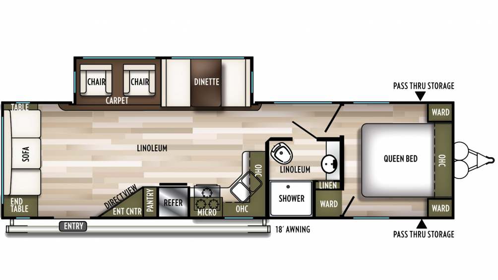 2020 Wildwood 28RLSS Floor Plan Img