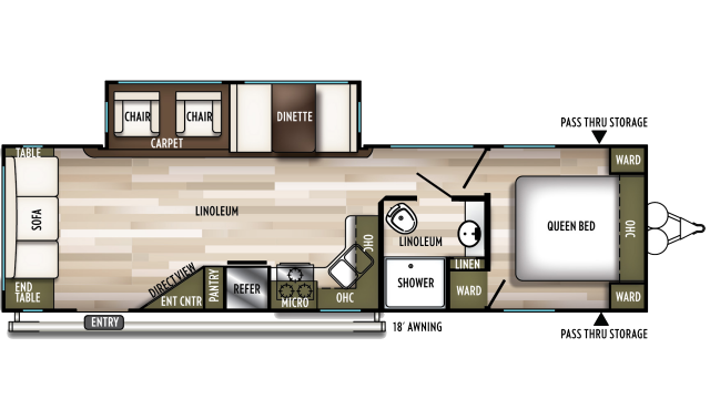2020 Wildwood 28RLSS Floor Plan