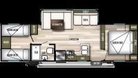 2020 Wildwood 29QBLE Floor Plan