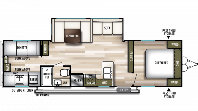 2020 Wildwood 30KQBSS Floor Plan Img