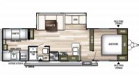 2020 Wildwood 30KQBSS Floor Plan
