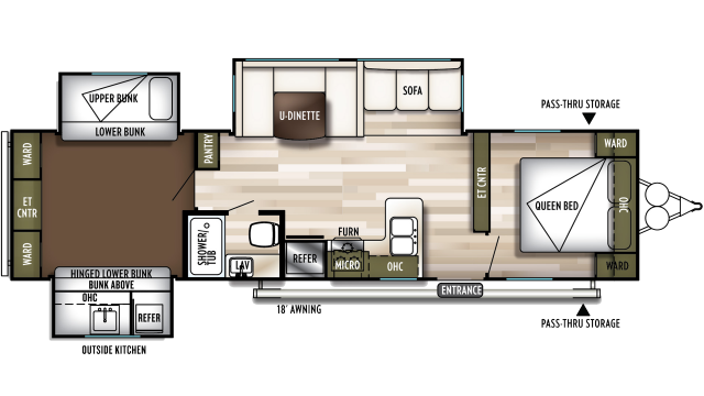 2020 Wildwood 31KQBTS Floor Plan